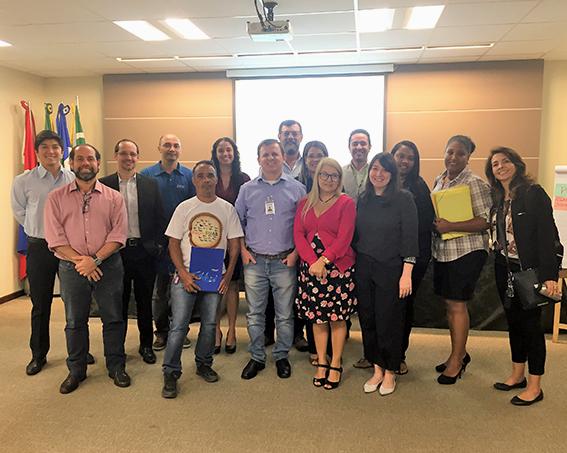Foto da equipe na primeira Reunião da Fundação Bunge em Rondonópolis